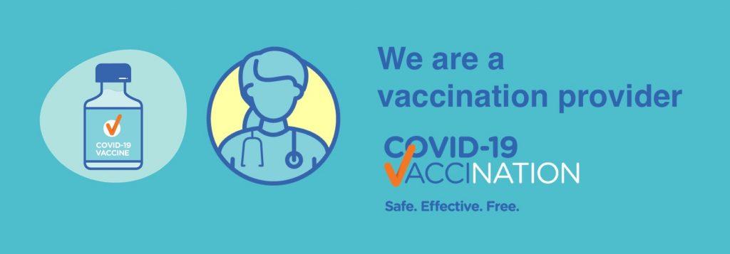 We are a COVID-19 Vaccination Clinc